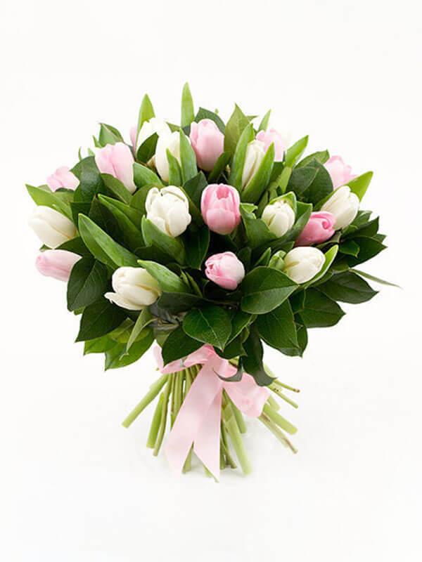 Букет из 25 тюльпанов в ассортименте