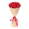 Букет из 9 красных роз в крафтовой бумаге