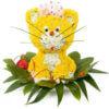 Цветочная композиция в форме игрушки Котенок