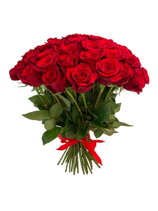 Букет из красных роз в ассортименте