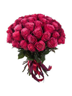 Букет из малиновых роз в ассортименте
