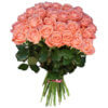 Букет из розовых роз в ассортименте