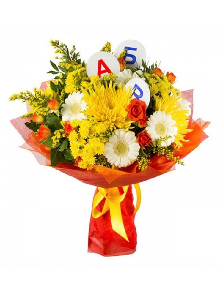 Папе цветов, букет первоклассника купить заказать