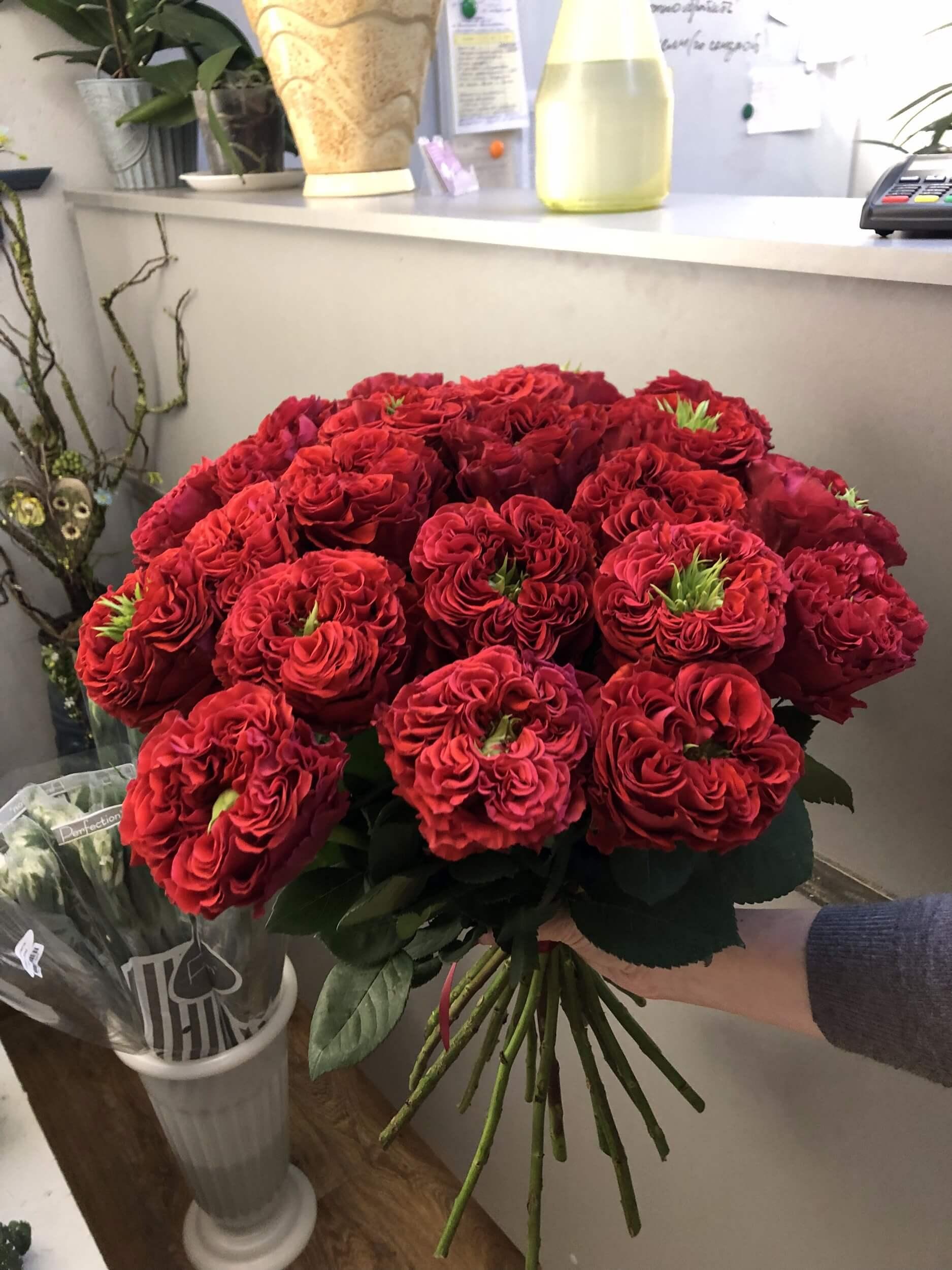 Букет роз Ред Монстр в ассортименте